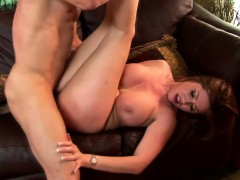 Bodacious Oriental milf Kianna Dior enjoys a hard fucking on the couch