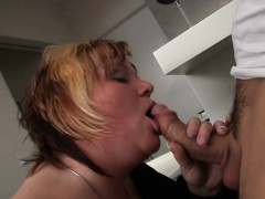 Nasty Fatty Gives Passionate Blowjob