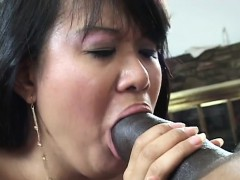 black man has a hot asian chick to ravage