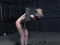 Restrained Fem Slave Caned As Punisment