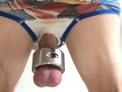 14 inch Dildo Being Fucked By Me With Ball Fat That Is Larg