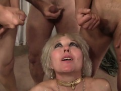 mature blonde gangbanged bukkake Hot
