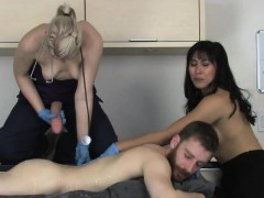 Sweeties Bang Studs Anal Hole With Enormous Strap Dildos And
