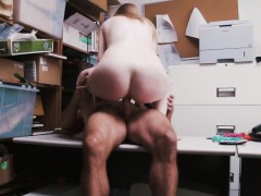 Sexy Skinny Teen Gets Caught Stealing And Fucked For It