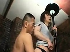 japanese crossdresser has a hard shaft deeply invading his