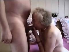 Grandmother having a good time
