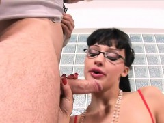 An empty office and a handsome stud is just what Aletta