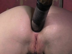 Whipped Sub Getting Her Asshole Punished