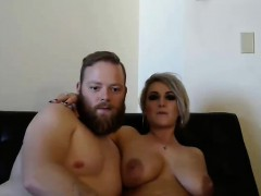 Hot Couple Playing On Webcam