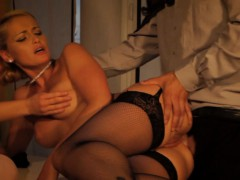 Dominatrix Punishing Babe While Bf Watches