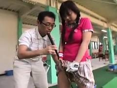 Stacked Oriental Teen In Tight Panties Wraps Her Hands Arou