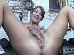 redhead-charlotte-masturbates-in-the-gym