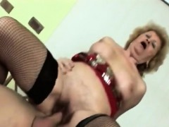big titted granny gets filled with younger stiff rod