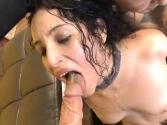 Brunette Whore Becky Sins Slapped Around And Face Banged Raw