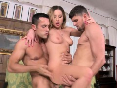 ally wanted both of her holes to be drilled by two big dicks