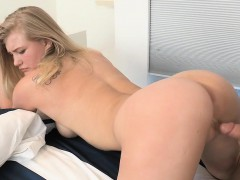 Glamorous Darling Bows Over For Stud's Cum-hole Drilling