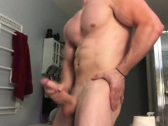 Ricky Ks Muscle And Cum Display Offering His 10 inch Penis