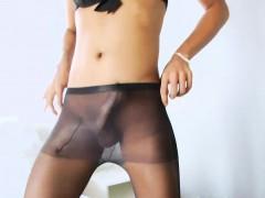 Asian Ladyboy Naymod Shows Off Ass And Masturbates Cock