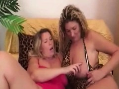 Busty Lesbian Grannies Playing With Long Dildo