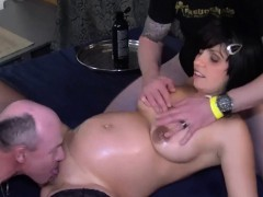 extreme pregant slut real gangbanged