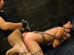 Teen Esmi Lee Gets Roughly Banged While Tied