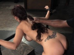 Busty Milf Whore Restrained And Banged