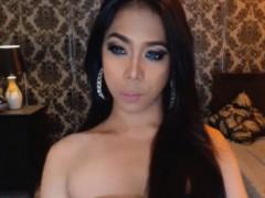 Asian Hottie Tranny Strip And Masturbate