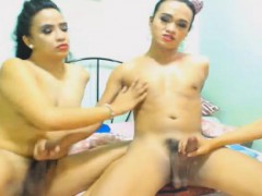 Horny Trio Shemale Babe Fuck Each Other