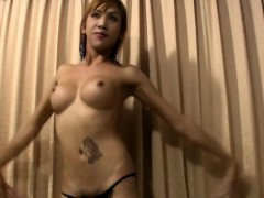 Tattooed Chick With Dick Strips Off And Exposes Decent Boobs