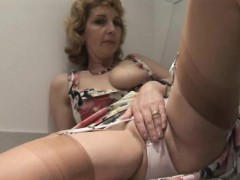 mature-blonde-in-stockings-dildos-her-sweet-cunt