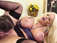 Sexy boss with big boobs