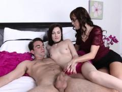 Stepmom Alana Enjoys 3some With Nina And Bf