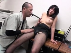 horny asian schoolgirl blowjob and banging