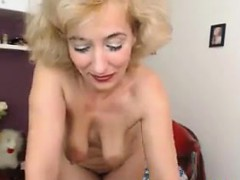 mature british blonde masturbates