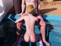Small 3D Teen Blonde With Small Tits And Big Ass Rides Hard!