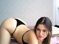 Hot Brunette Teen Sexy Ass Strip Dancing On Webcam