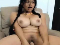 Busty Brunette Latina Teen Girl On Webcam