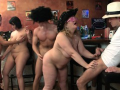 Big Tits Party Sex Group Orgy In The Bbw Bar