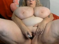 monster tits on adult webcam slut