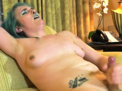 Alt Solo Trans Pulling Her Hard Cock