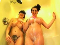 Big Boobs Brunette Banged In A Shower