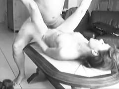 Slut Granny Elisabeth Bernard Licked Fucked On Table Spy