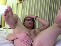 Amateur Spex Trans Tugging Her Cock Solo
