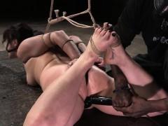 Tiedup Sub Tormented In Hogtie Bondage