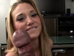 Enchanting Teen Knows How To Stroke And Suck An Crazy Dong