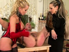 Dude Bound Up And His A-hole Fucked With A Toy By His Domme
