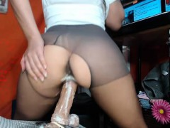 big titted amateur girlfriend toying banging with facial