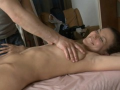 Glamorous Darling Gives Oral Pleasure Sucking After Massage