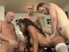 Latina Maid Ts Jessy Dubai Double Anal Sex With Horny Men