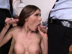 office babe cocksucking before anal pounding